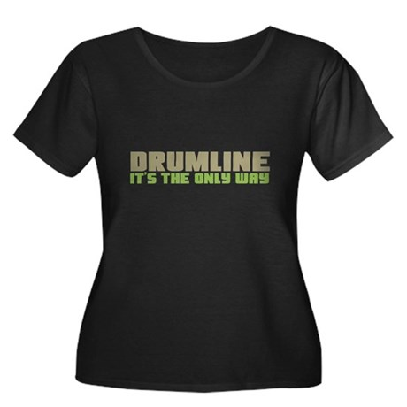 Drumline Women's Plus Size Scoop Neck Dark T-Shirt