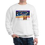 XmasSunrise/2 Airedales Sweatshirt