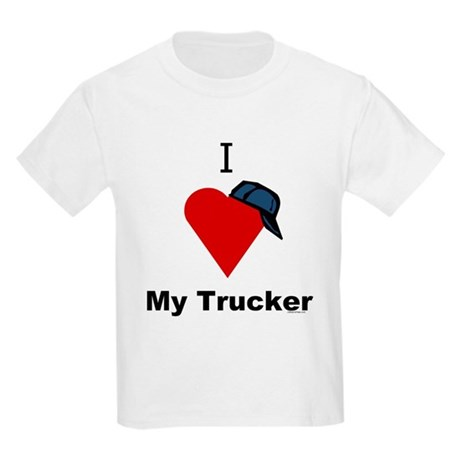 I Love My Trucker Kids T-Shirt