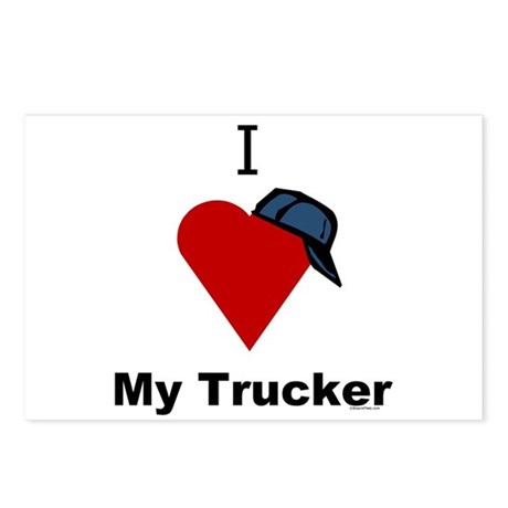 I Love My Trucker Postcards (Package of 8)