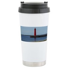Muskegon Lighthouse Ceramic Travel Mug