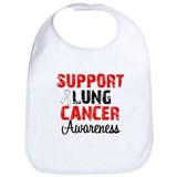 Support Lung Cancer Awareness Bib