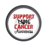 Support Lung Cancer Awareness Wall Clock