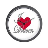 I love (heart) Draven Wall Clock