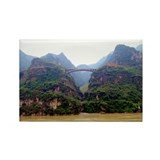 Three Gorges Rectangle Magnet