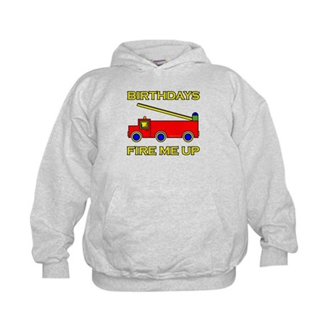 Fire Engine Birthday Kids Hoodie