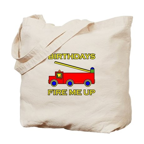 Fire Engine Birthday Tote Bag