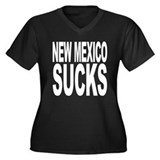 New Mexico Sucks Women's Plus Size V-Neck Dark T-S