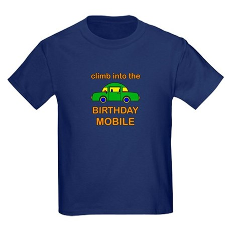 Birthday Car Kids Dark T-Shirt
