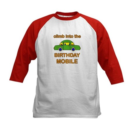 Birthday Car Kids Baseball Jersey