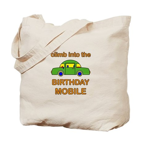 Birthday Car Tote Bag