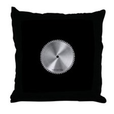 Saw Blade Throw Pillow