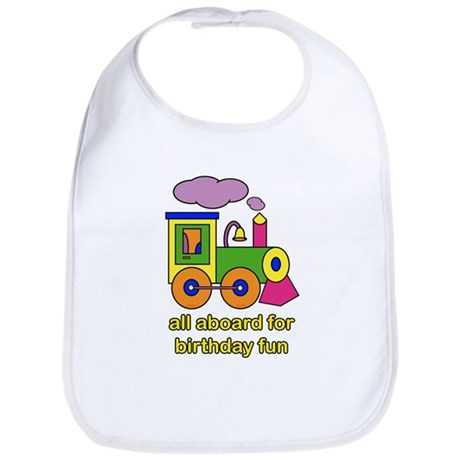 Train Birthday Bib
