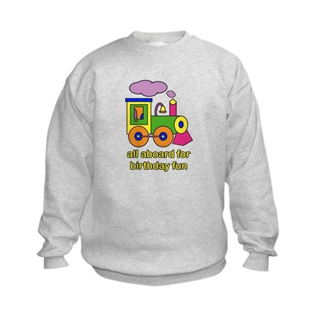 Train Birthday Kids Sweatshirt