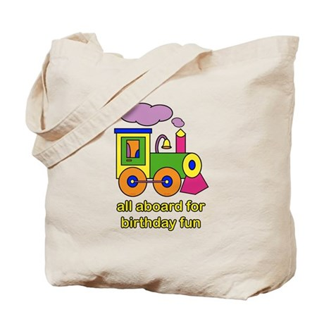 Train Birthday Tote Bag