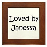 Cute Janessa Framed Tile