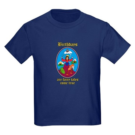 Fairy Tale Birthday Kids Dark T-Shirt