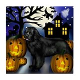 Newfoundland DOG HALLOWEEN Tile Coaster