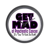 Get Mad At Pancreatic Cancer 2 Wall Clock