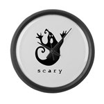 scary! Large Wall Clock