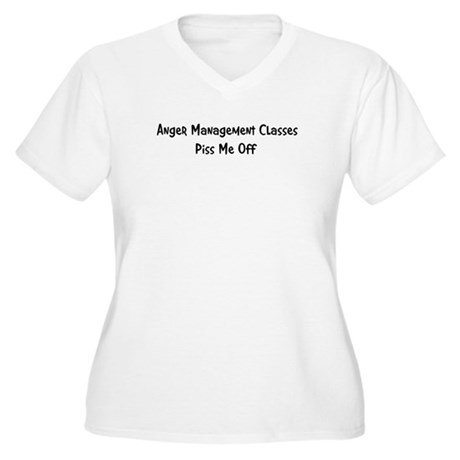 Anger Management Classes Piss Women's Plus Size V-