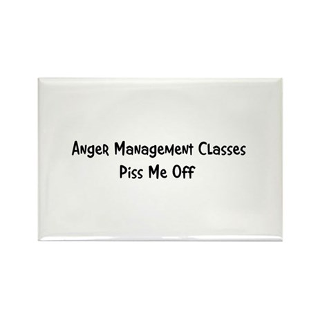Anger Management Classes Piss Rectangle Magnet