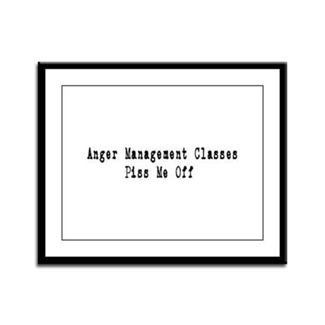 Anger Management Classes Piss Framed Panel Print