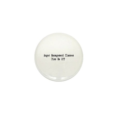 Anger Management Classes Piss Mini Button (100 pac