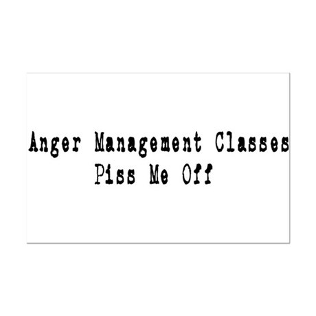Anger Management Classes Piss Mini Poster Print