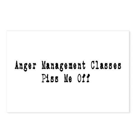 Anger Management Classes Piss Postcards (Package o
