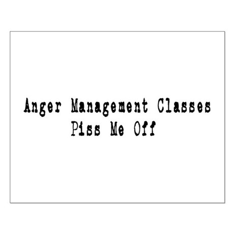 Anger Management Classes Piss Small Poster