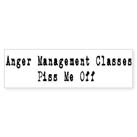 Anger Management Classes Piss Sticker (Bumper 50 p