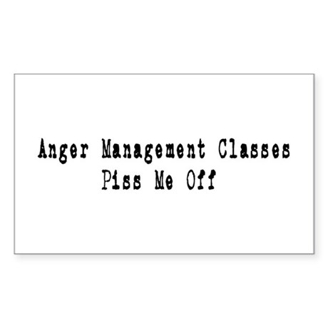 Anger Management Classes Piss Rectangle Sticker