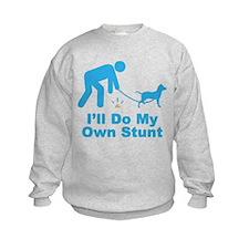 Blue Lacy Sweatshirt