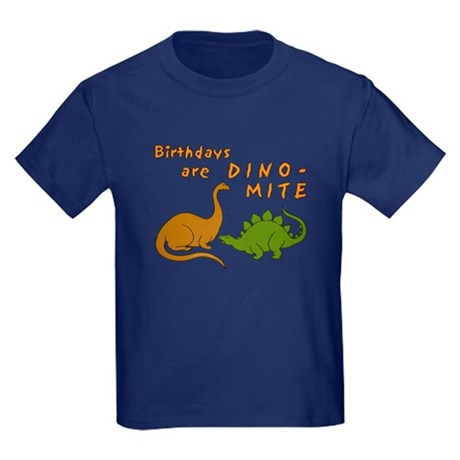 Dinosaur Birthday Kids Dark T-Shirt