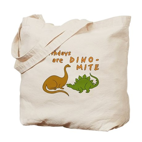 Dinosaur Birthday Tote Bag