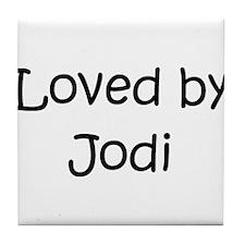 Funny Jody name Tile Coaster