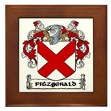 Fitzgerald Coat of Arms Framed Tile