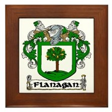 Flanagan Coat of Arms Framed Tile