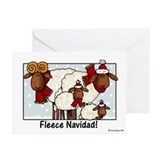 fleece navidad Greeting Cards (Pk of 10)