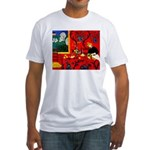 Harmony in Red Fitted T-Shirt