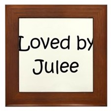 Unique Jules name Framed Tile