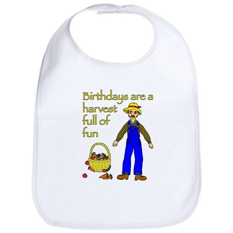 Farmer Birthday Bib