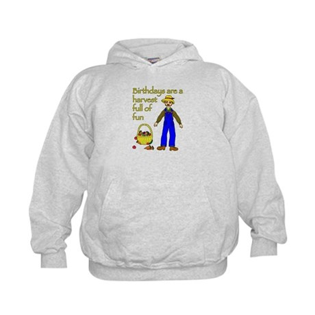 Farmer Birthday Kids Hoodie