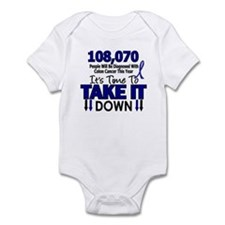 Take Down Colon Cancer 4 Infant Bodysuit