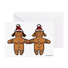 lesbian gingerbreads Greeting Cards (Pk of 20)