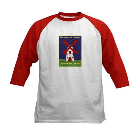 Windmill Birthday Kids Baseball Jersey