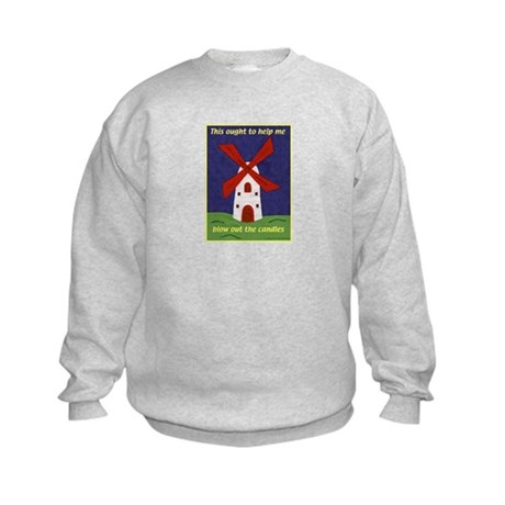 Windmill Birthday Kids Sweatshirt
