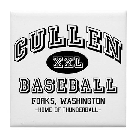 Cullen Baseball Tile Coaster