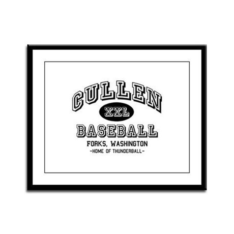 Cullen Baseball Framed Panel Print